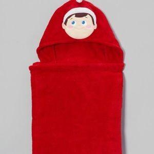 Other - Elf on the shelf hooded microfiber red blanket